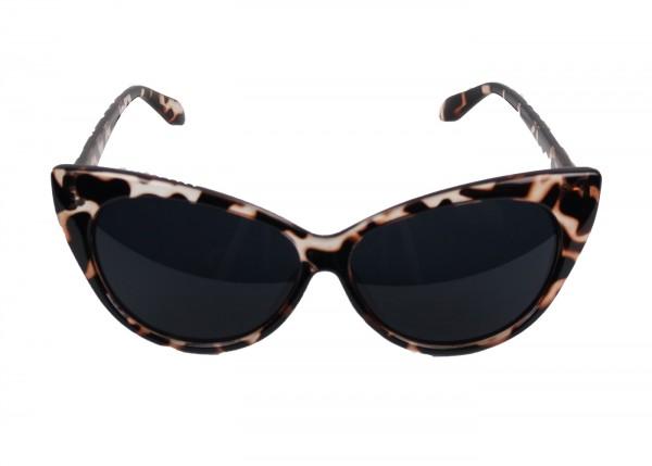 Cat Eye Sonnenbrille im Tiger Look