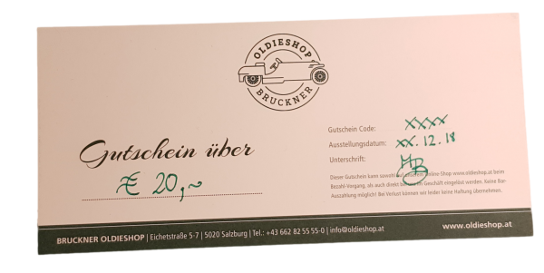 Geschenkgutschein über € 20