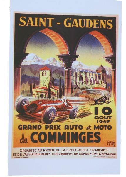 Poster Satin Gaudens Automobil