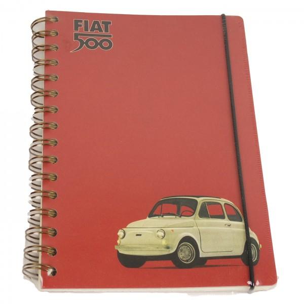 Notizbuch Fiat 500 rot