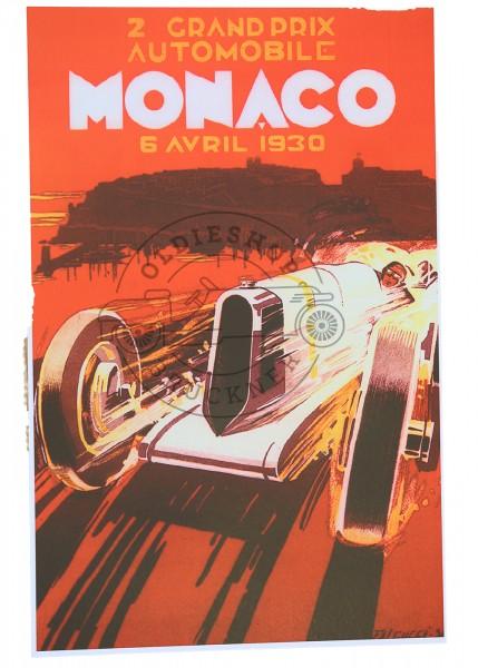 Poster Monaco 1930