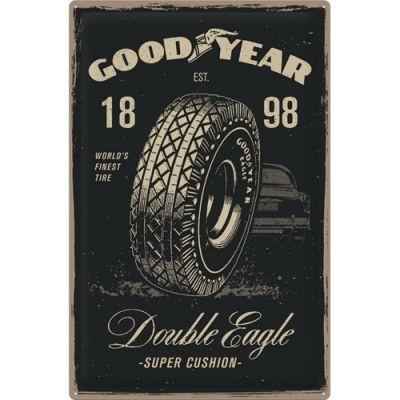 GOODYEAR - Double Eagle - Metallschild XXL