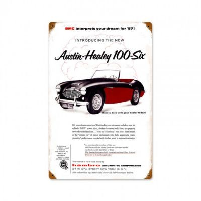 Austin Healey 100-Six Metallschild