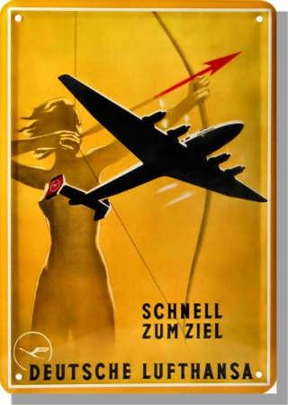 Metallschild Lufthansa