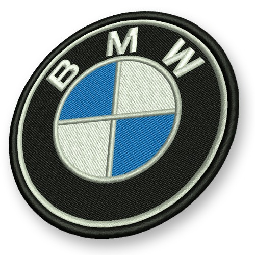 BMW grau Aufnäher Patch D 6cm