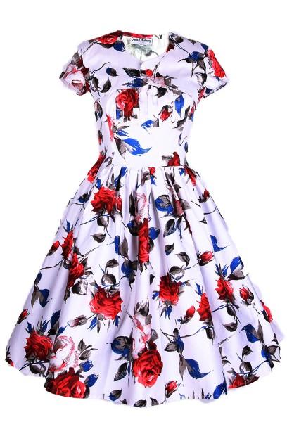 Med Man Swing Kleid mit großen Rosen Gr.34, 36,38,40