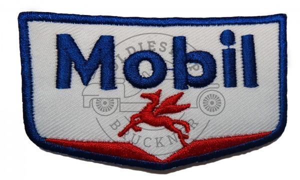 Mobil rot blau Aufnäher Patch