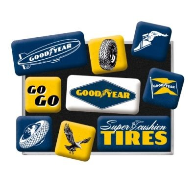 Magnetset 9Teilig Goodyear Tires