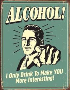 Alcohol Schild