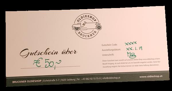 Geschenkgutschein über € 50