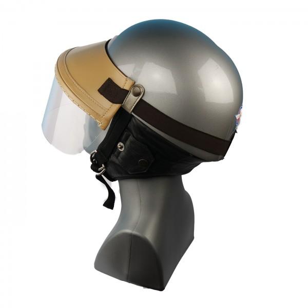 Steck-Visier für Classic Helme aus echtem Leder in beige