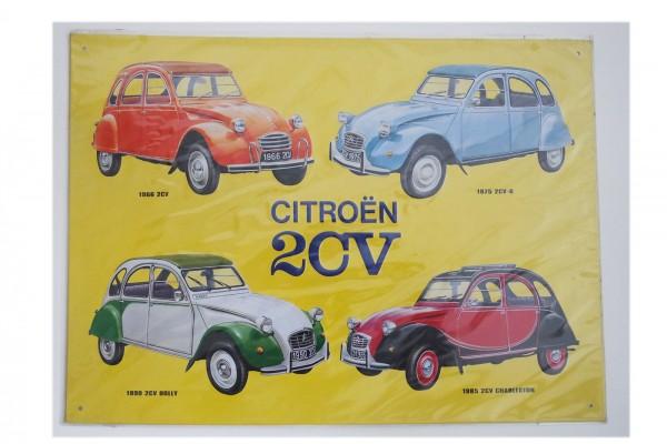Citroen 2 CV Schild