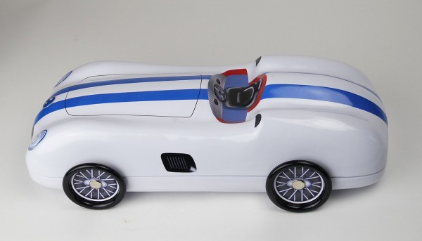 Roadster blau weiß Blechdose