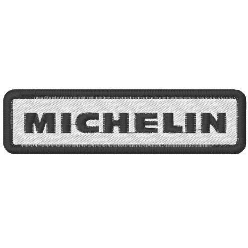 Michelin Patch eckig weiss