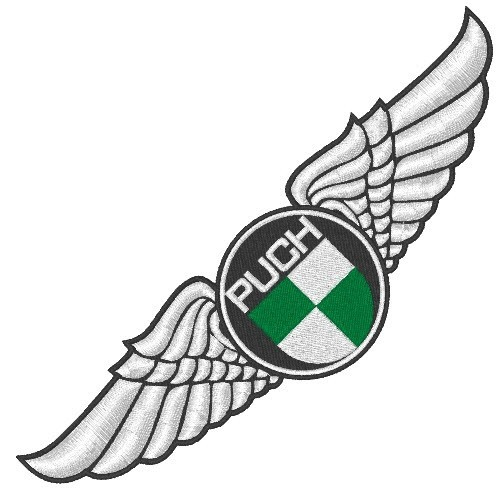 Puch Wings Aufnäher Patch