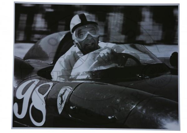 Foto Carol Shelby auf Ferrari 401S
