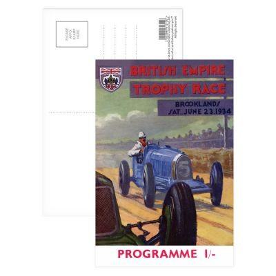 Postkarte Racing