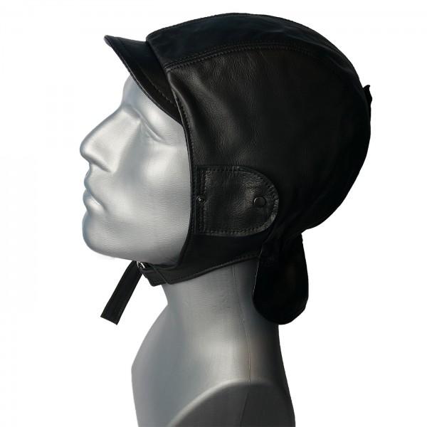 Cabriohaube aus feinstem Nappaleder in schwarz