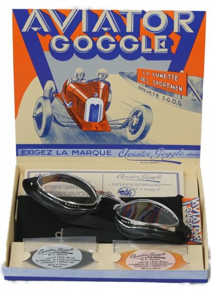 Aviator Brille in schwarz mit verstellbarem Nasensteg 4600