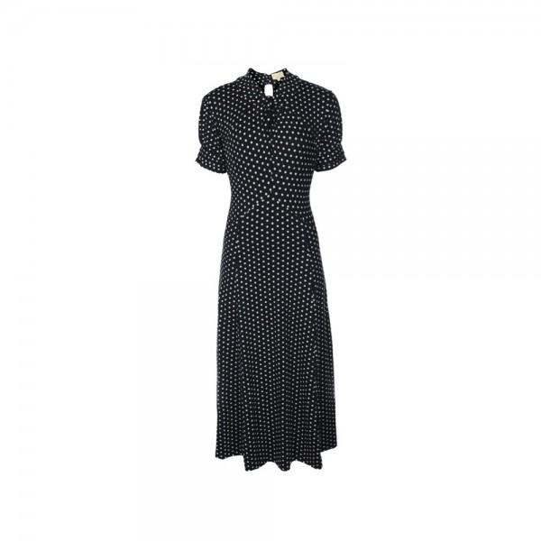 Amie 40er Jahre Jersy Kleid in blau Gr 34, 36, 38, 42