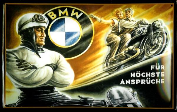 Metallschild BMW für höchste Ansprüche