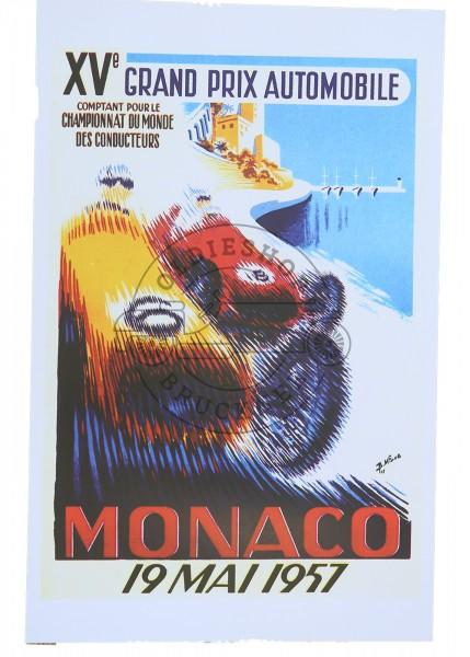 Poster Grand Prix von Monaco 1957