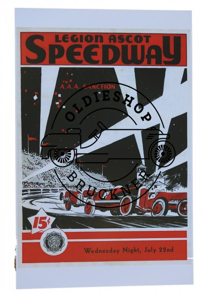 Poster Speedway Ascot