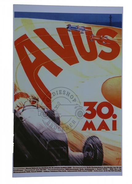 Poster Avus Rennen